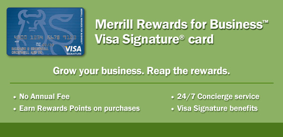 Merrill Rewards for Business Card